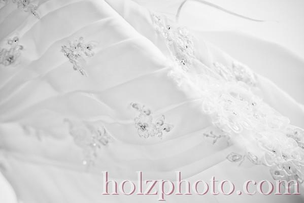 Stephanie and Chad Black/White Wedding Photos