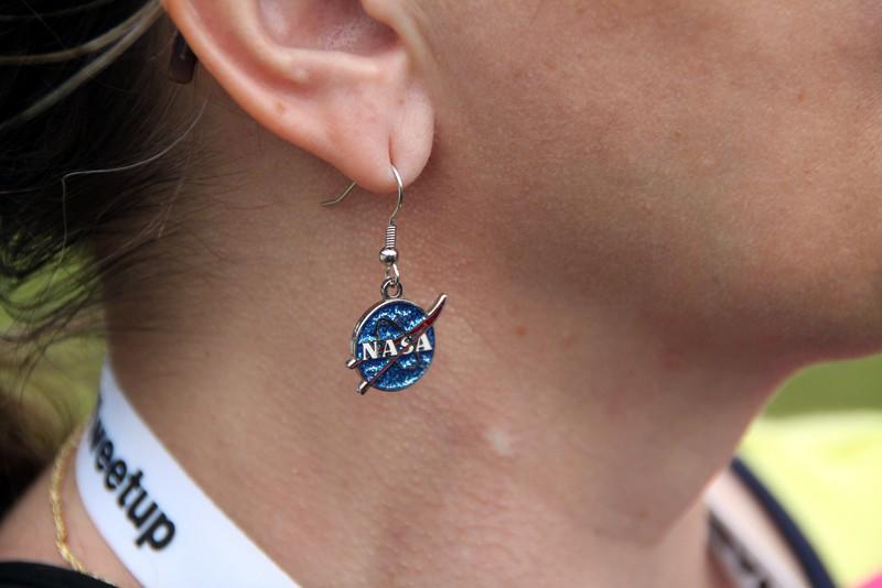 @RennaW models NASA earrings