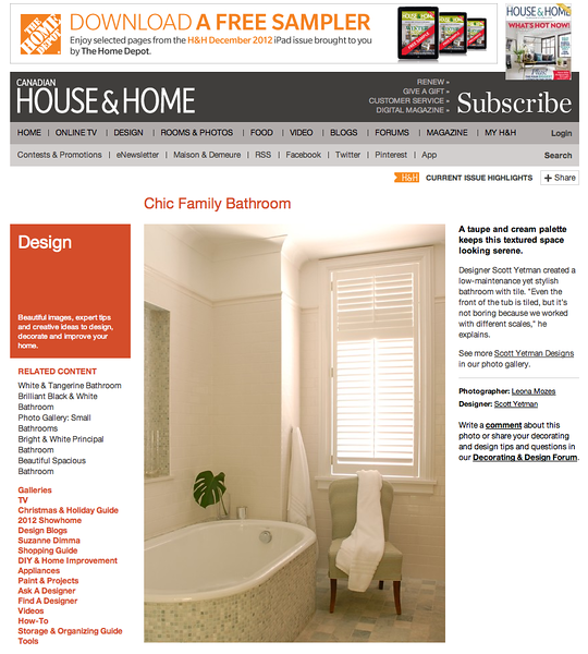 Canadian House and Home online edition