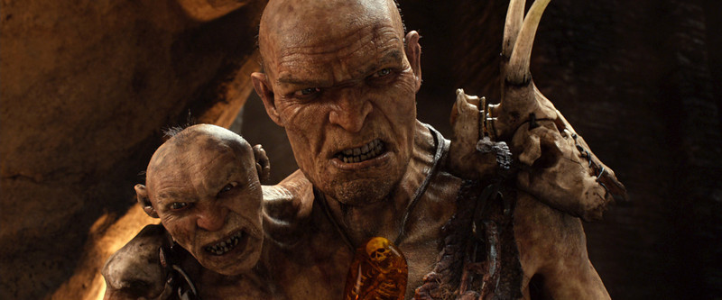 ". This film image released by Warner Bros. Pictures shows This film image released by Warner Bros. Pictures shows Gen. Fallon, voiced by Bill Nighy, right, and Fallonís Small Head, voiced by John Kassir, in a scene from ""Jack the Giant Slayer.\"" (AP Photo/Warner Bros. Pictures)"