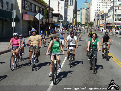 Cruising downtown - CicLAvia 2011 - Los Angeles, CA - October 9, 2011
