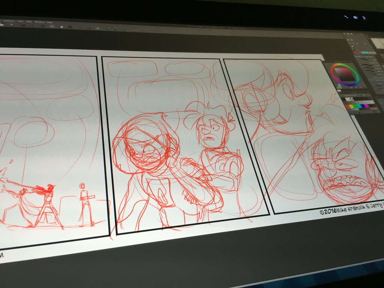 Working on another comic