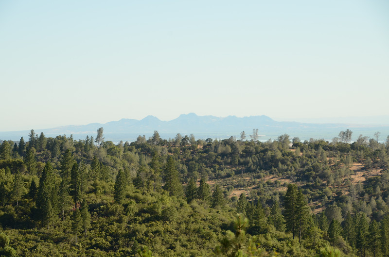 First view of Sutter Buttes, descending into Oroville