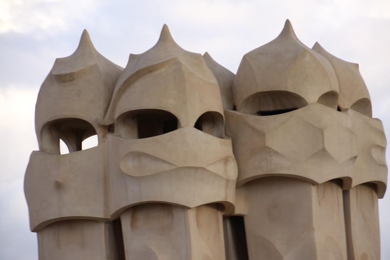 Casa Mila roof vents