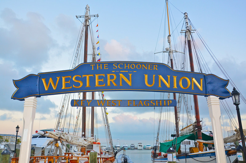 The Schooner Western Union was first launched off the docks in Key West on April 7, 1939 and was a working schooner for 35 years as a cable tender for the Western Union Telegraph Company.  Now owned by a privately funded Preservation Society,  after more than two years in restoration it was re-commissioned in April 2011 and put back into service for public day sails and re-turning to its rightful place as the flagship of the Conch Republic.