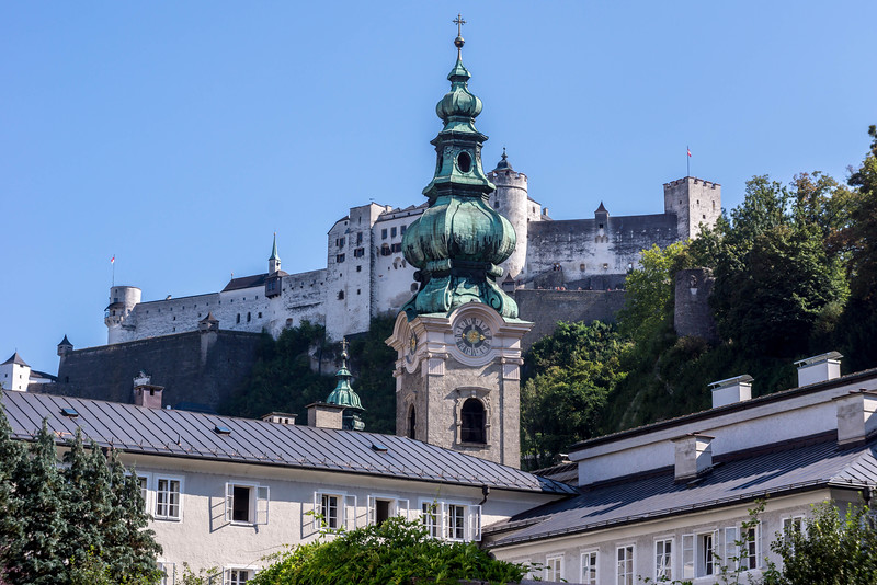 St Peter's Abby and Hohensalzburg Fortress