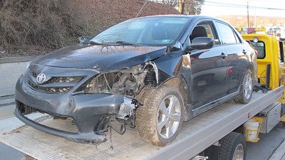 Car from High Speed Chase, Pottsville Stretch, Tamaqua (3-31-2014)