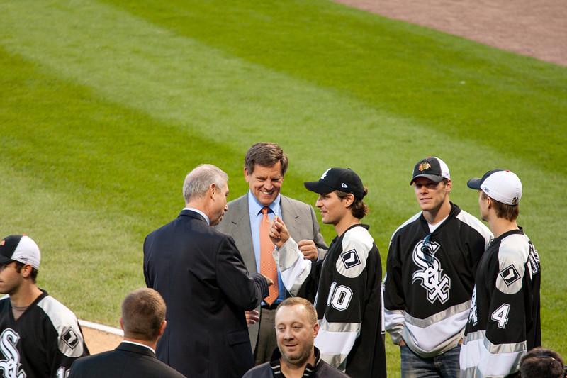 John McDonough, Rocky Wirtz and Patrick Sharp Discuss His Contract
