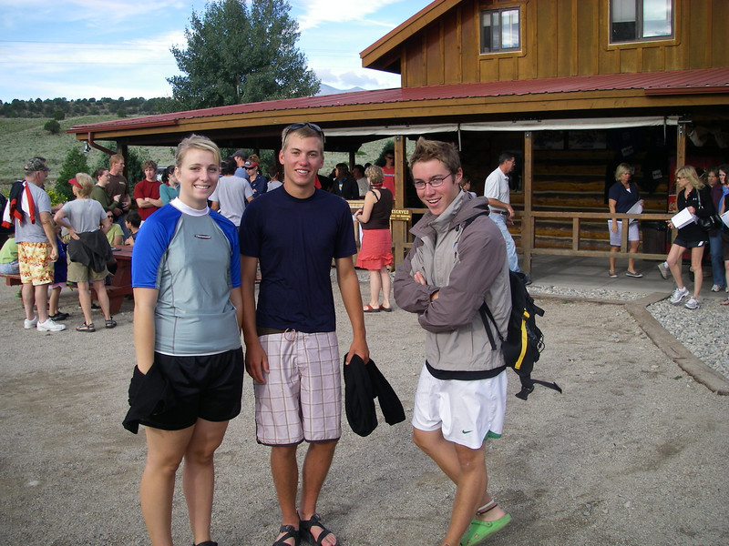 Reunited after our Montezuma's Tower adventure: Laura, Ben and Craig - ready to raft.