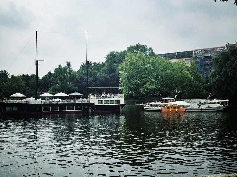 Båtar Landwehrkanal Berlin