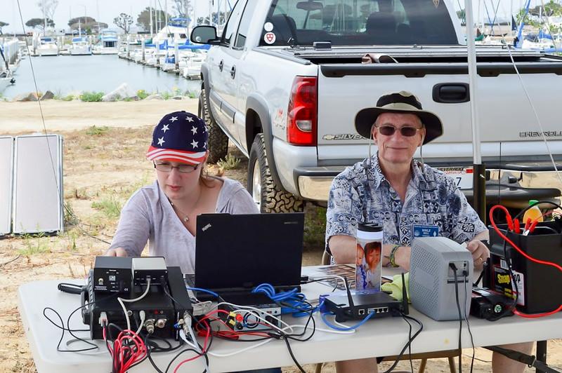 Sarah Honaker, KK6DKP and Bill Honaker, N9LZ, working 20 meter digital and phone