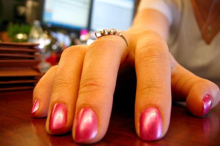 Jaimie Jessop's fabulous nails taken with crap point & shoot camera