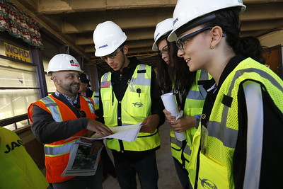 Chapin engineering students tour Bond 2016 project at Burges