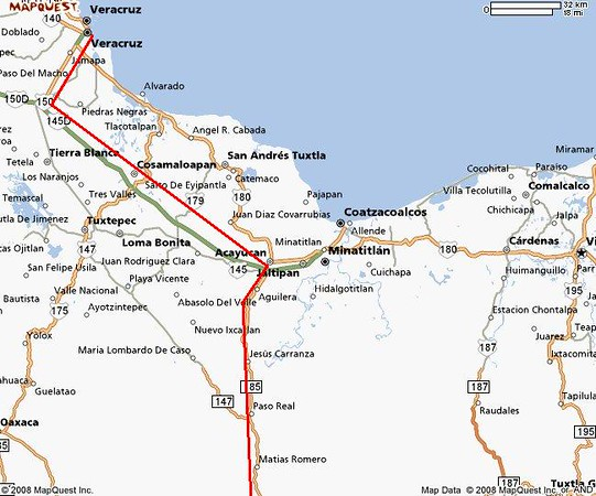 4 day Veracruz to Minatitlan red line.JPG