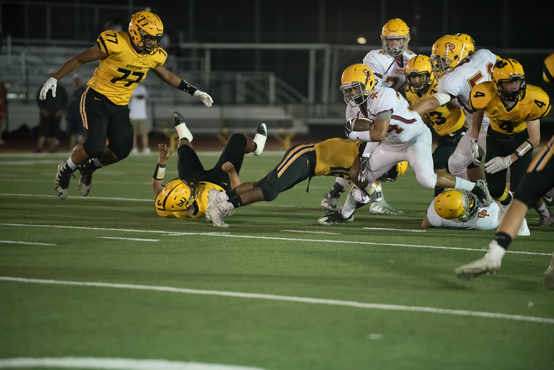 Taken during Varsity Football game between Cupertino High School Pioneers and MVHS Spartans at Mountain View High School CA on October 6th 2017