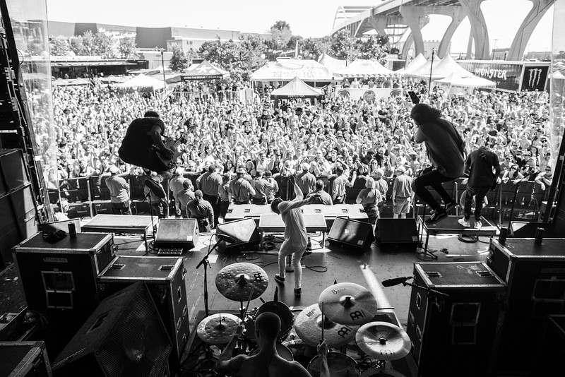 The Word Alive in Milwuakee, WI on Vans Warped Tour 2016