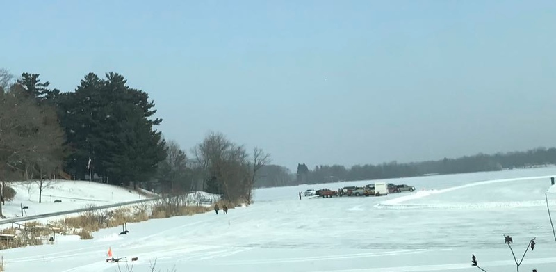 Straight ahead - Hard Water Racers on Staples Lake ice racing group