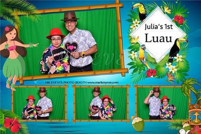 Julia's First Luau