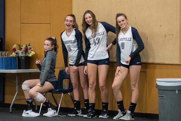 2018 Varsity Volleyball Senior Night vs. St. Helens