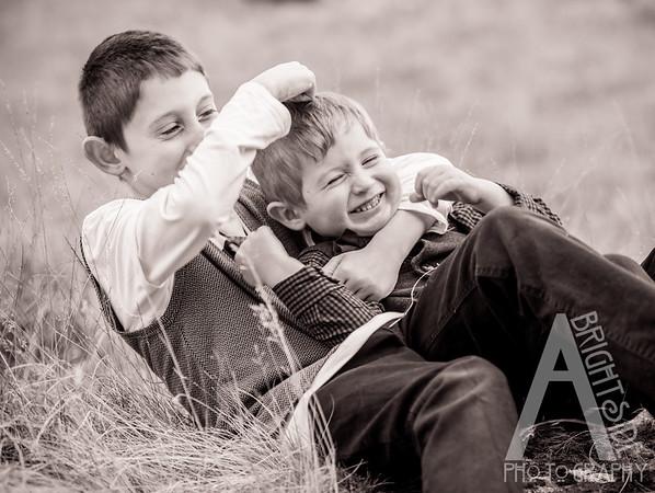Amanda Spence family photo shoot