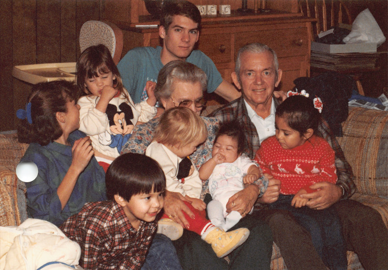 Ruben, Frankie and grandkids