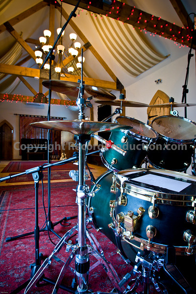 Leeders Farm Recording Studios - Fantastic residential music studio in the UK.  Drums in the main recording studio area