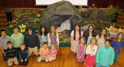 Easter Putz Display, Zion Evangelical Lutheran Church, Tamaqua (4-20-2014)