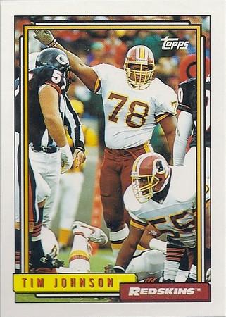 1992 Redskins Cards
