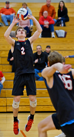 Benet boys volleyball vs. Naperville Central