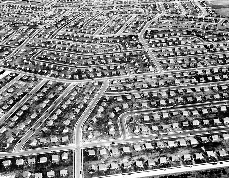 Cookie-cutter suburb