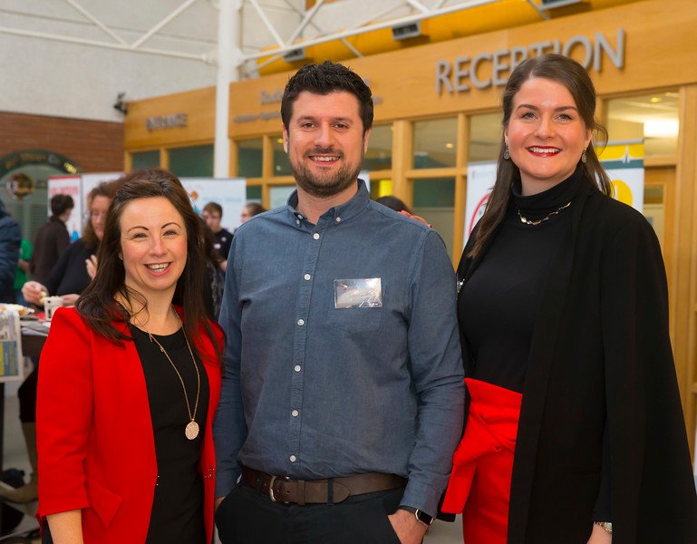 22/02/2018. Research Sparks in Waterford Institute of Technology. Pictured are Corina Power Alan Davy and Aisling O'Neill WIT. Picture: Patrick Browne