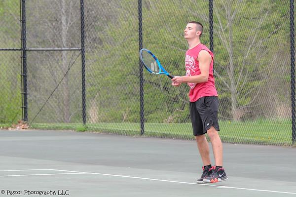 Boys Tennis Action
