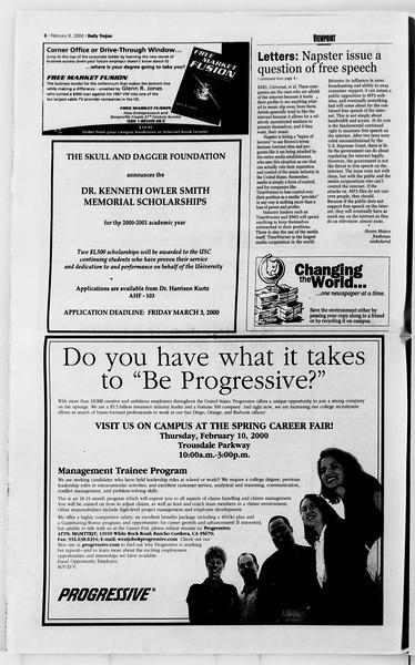 Daily Trojan, Vol. 139, No. 20, February 09, 2000