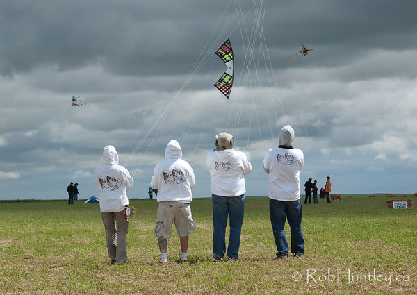 The 2011 Windscape Kite Festival in Swift Current, Saskatchewan. June 26, 2011.  Rev Riders  © Rob Huntley