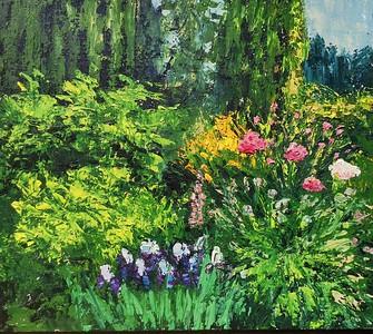 """Joyful garden"" (oil on canvas) by Olga Aparina"
