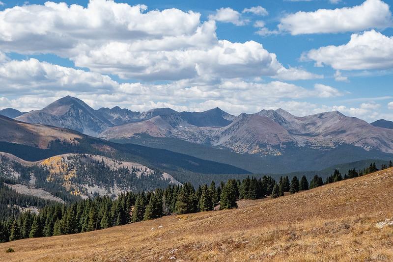 View West - 14er Quandary Peak at Left