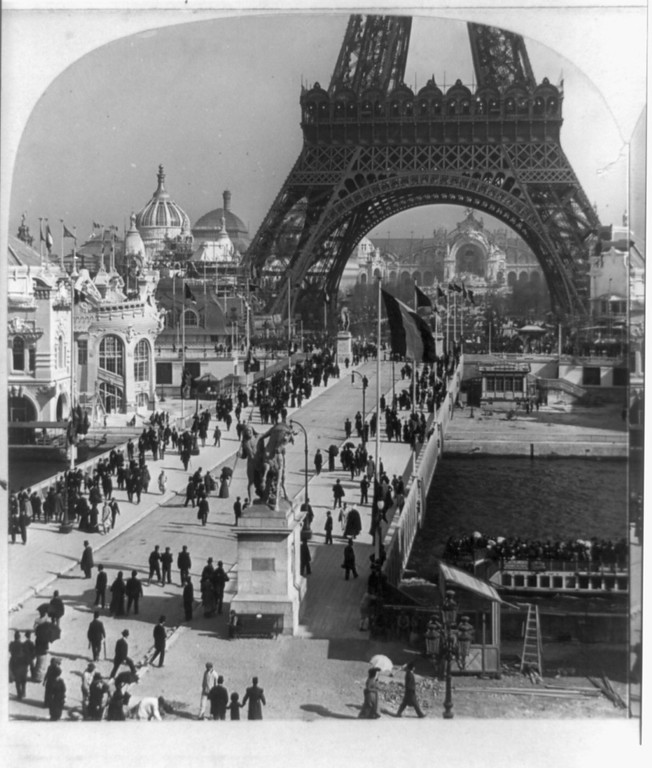. The Eiffel Tower--Champs de Mars in distance--Paris Exposition, 1900 (Library of Congress Prints and Photographs Division)