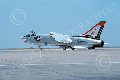 U.S. Navy F-8 Crusader Airplanes in Bicentennial Color Scheme