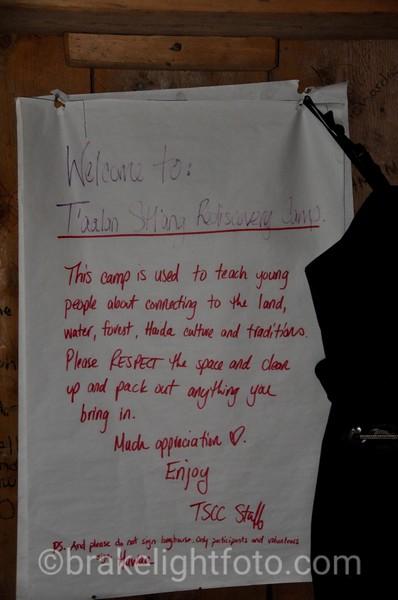 Note at the T'aalan Stl'ang Rediscovery Camp