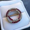 2.90ctw French Ruby and Diamond Brooch, by La Cloche Fres of Paris 22