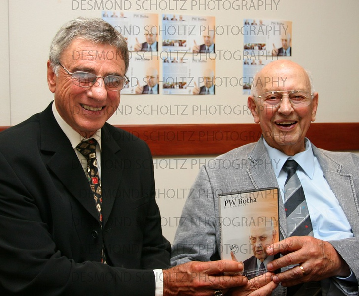 Former president PW Botha and journalist Cliff Saunders
