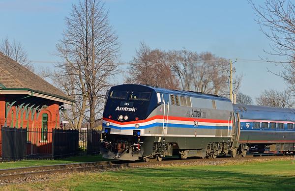Amtrak Adirondack, St-Jean-sur-Richelieu, Quebec, April 25 2019.