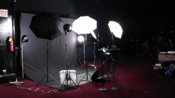 My STUDIO ~ Backdrop and Mobile set up