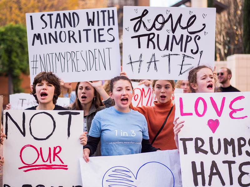 Student and Women led Trump Protest