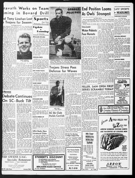 Daily Trojan, Vol. 40, No. 18, October 06, 1948