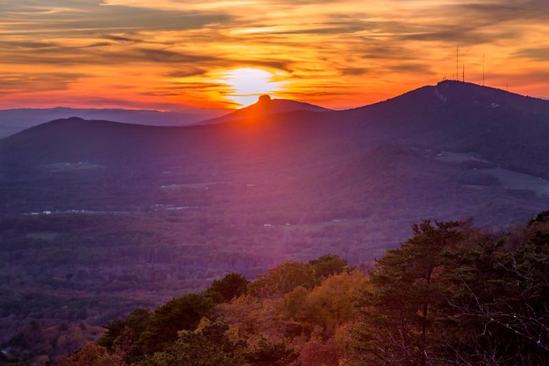 Pilot Mountain Between the Ridges