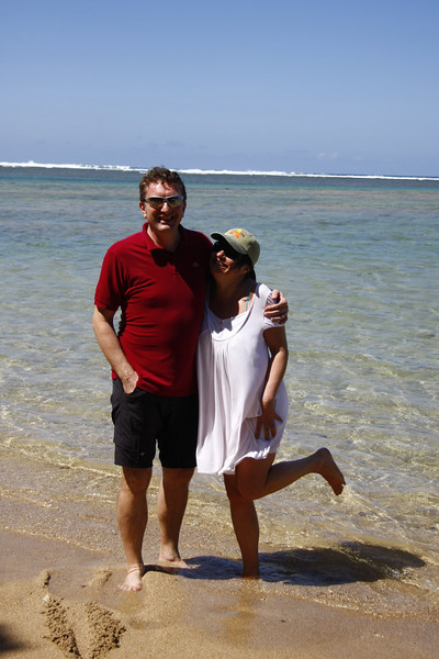my sweeatheart and me on anini beach