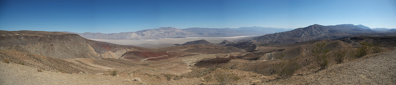 Panorama of Death Valley in California