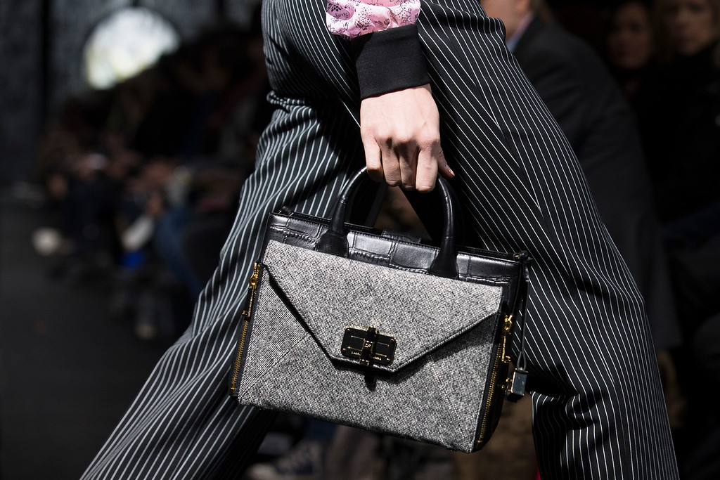 . The Diane von Furstenberg Fall 2015 collection is modeled during Fashion Week, Sunday, Feb. 15, 2015, in New York. (AP Photo/John Minchillo)