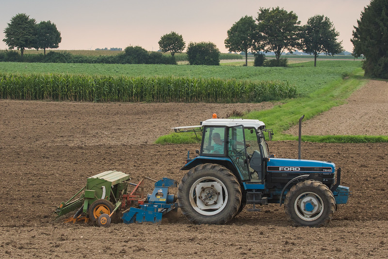 Ford 7840 plowing.